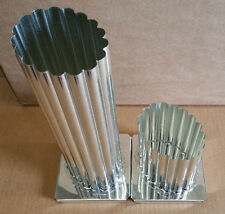 OVAL Metal Candle Mold 1/2 inch Fluted Scalloped Edges (You Choose Height)