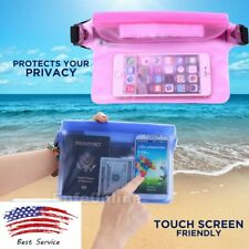 [Blue / Pink] Plastic Waterproof Waist Pouch Bag Dry Case Cover for Smart Phones