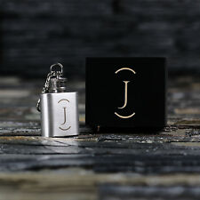 NTLux Personalized Mini Hip Flask Monogram Keychain Gift for Men,Whiskey Lovers
