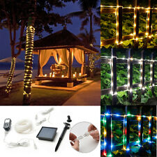 5m/10m 50/100LED Rope Tube Fairy String Lights Xmas Garden Tree In/Outdoor Lamp
