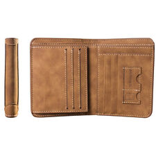 New Men PU Leather ID credit Card holder Clutch Bifold Coin Purse Wallet Pockets
