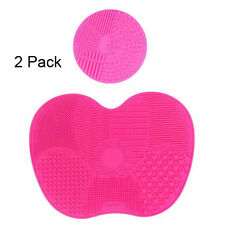 2 Pack Silicone Makeup Brush Cleaner Pad Washing Scrubber Board Cleaning Mat