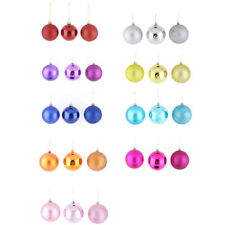 Holiday Christmas Party Plastic Pendant Tree Ornament Ball 8cm Dia 24 Pcs