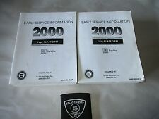 2000 CADILLAC DEVILLE SERVICE SHOP REPAIR MANUAL 2 VOLUME SET