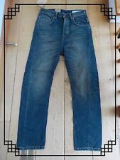 ALL SAINTS LUNA GUN CARROT FIT VINTAGE DIRTY WASHED BLUE JEANS WAIST 25 27 BNWT