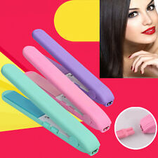 Women Mini 2 in 1 Portable Curler&Straightener Hair Iron Curling Wave Curling