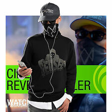Watch False Two Pieces Dog Sweater Coat Marcus Holloway Black Apparel Dedsec
