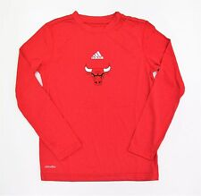 adidas Chicago Bulls Youth Primary Logo ClimaLITE Long Sleeve T-Shirt