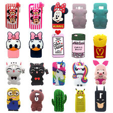 3D Cute For Samsung Galaxy Case Animal Silicone Soft DSN Phone Cover Back Skin