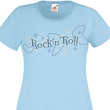 T-shirt femme ROCK'N'ROLL - Style retro 50's Fifties vintage Pin-Up Rockabilly