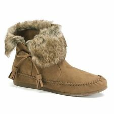 New $60 WOMENS MADDEN GIRL FINN BROWN MOCCASIN ANKLE BOOTS 6,7~Awesome!~Hot Buy!