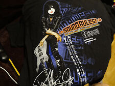PAUL STANLEY KISS SOUNDRULES RARE PROMO T SHIRT HEARING LOSS XL VERY RARE