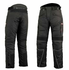 Motorbike Motorcycle Cordura Textile Trousers/Pants CE Approved Armours Black