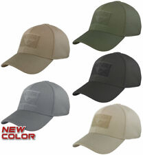 Condor FLEX Tactical Cap FITTED Reinforced Stitching Front Top Back Patch Panels