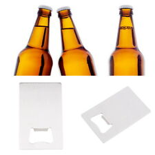 Hot Beer Bottle Cap Opener Credit Card Size Stainless Steel Bar Tool Gift lot DP