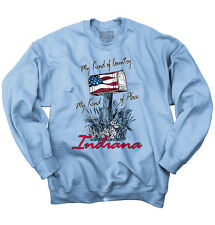 My Country Town Indiana USA T Shirt American Flag Vintage Gift Sweatshirt