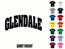 City Of Glendale College Letters T-Shirt #405 - Free Shipping