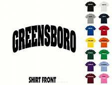 City Of Greensboro College Letters T-Shirt #429 - Free Shipping