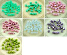 40pcs Czech Glass Faceted Fire Polished Beads 6mm