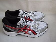 New Mens Asics GEL-Contend 2 Running Shoes Style T426N White/Silver/Red 301P lr