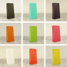 Small COLOURED PAPER BAGS Bulk Loot Bag CANDY LOLLY TREAT - 8 Different Colours