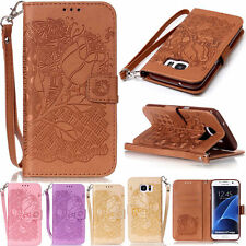 Elegant Floral Style Wallet PU Leather Flip Case Cover Pouch For Phones