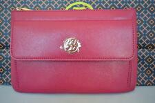 AUTH $195 NWT TORY BURCH ROBINSON SAFFIANO LEATHER ZIP POUCH CLUTCH BAG