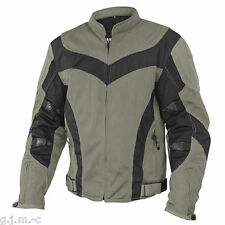 Xelement Men's 6019 Tri-Tex Mesh Grey Level-3 Armored Motorcycle Jacket