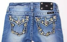 NEW MISS ME GIRLS BUCKLE JEANS THICK STITCH BERMUDA SHORTS 8 10 12 14 JK5962M