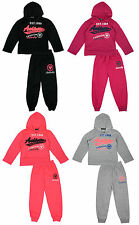 Girls Athletic Butterfly 1988 Hoody Tracksuit Hooded Jog Suit Set 2 to 12 Years