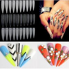 Beauty 500Pcs/Bag Natural French Acrylic False Fake Nail Art Fingernail Full Tip