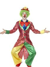 La Circus Deluxe Clown Fancy Dress Costume Mens Burgundy Comedy Costumes