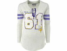 Touch Minnesota Vikings Ladies Kickoff Lace-Up Long Sleeve T-Shirt NWT L