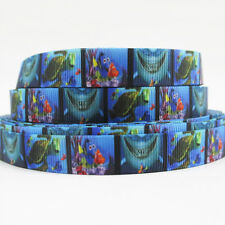 "5yards Finding Nemo Grosgrain Polyester Ribbon DIY Hair Bow Sewing 5/8"" (16MM)"