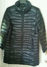 a.n.a. NWT PACKABLE PREMIUM  DOWN WOMENS COAT W/POUCH BLACK SIZE 1X  EXTRA LONG
