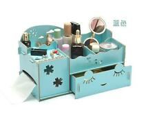 DIY Wooden Board Storage Box Desk Decor Stationery Makeup Cosmetic Organizer