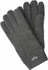 Men's knitted glove LASSE with Thinsulate thermal lining made of 100% wool Gray