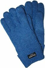 Ladies Knitted WARM & SOFT GLOVES with Thinsulate Thermal Lining 100% wool Blue