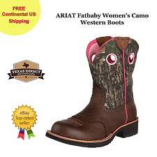 ARIAT Fatbaby Women's Camo/Brown Western Boots [Size 6.5, 7 , 7.5 , 9]