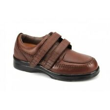 Answer2 Therapeutic Diabetic Footwear Mens Casual Brown Leather Shoes 556