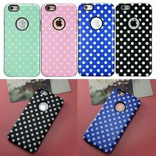 New Hybrid TPU Soft Rubber Polka-dot Skin Case Cover for Apple iPhone 6 6S 4.7''