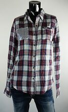 NEW MISS ME SHIRT  S-M-L JMT1122 PLAID AND SEQUENCE LONG SLEEVE SHIRT