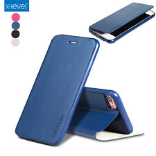 X-Level Luxury Business PU Leather Flip Stand Case Cover For iPhone 6/6S/77 Plus
