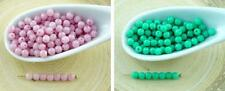 100pcs Opaque Round Czech Glass Beads Small Spacer 3mm