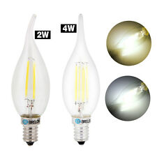 E14 LED 2W/4W Candle Dimmable Light Bulb Lamp White/Warm White Lighting