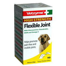 Vetzyme High Strength Flexible Joint Tablets for Dogs (30's & 90's)