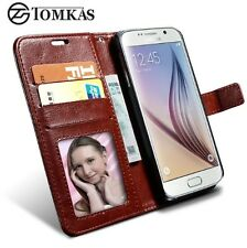 Durable MultiPUrpose Samsung Galaxy S6 Edge Book Style Leather Case Cover Wallet