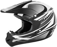 Cyber Youth UX-23 Dyno Silver/Black DOT ATV Motocross Offroad Motorcycle Helmet