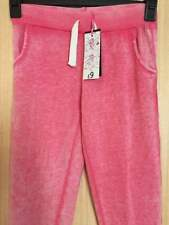 Girls Bnwt Miss Evie Pink Cropped Joggers Size 11 and 12 years