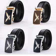 Genuine Leather Men's Automatic Buckle Belts Fashion Waist Strap Waistband Gift